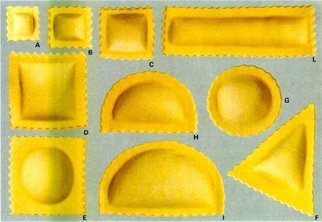 Formati Ravioli Aldo Cozzi producibili con le nostre combinate