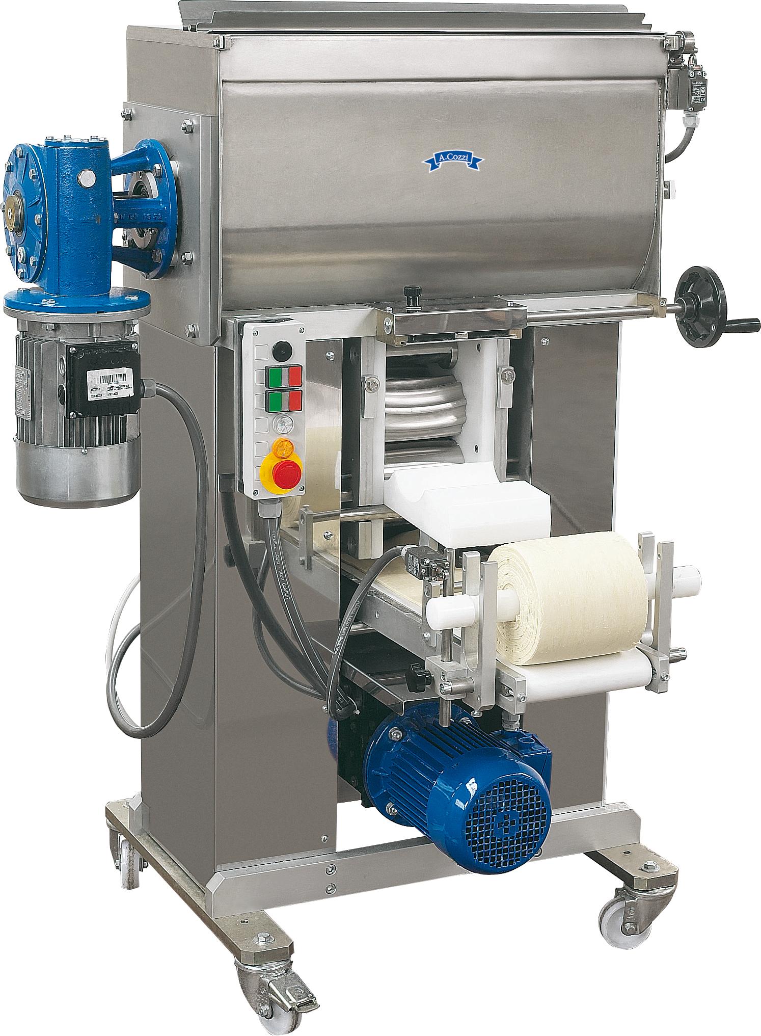 Sfogliatrice automatica a doppia vasca per la produzione di sfoglia