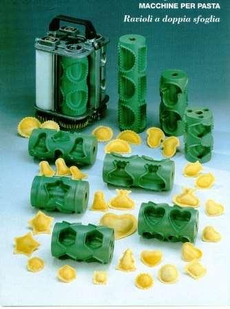 Stampi e formati ravioli - Macchine raviolatrici