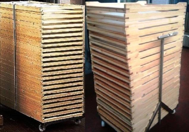 Carrelli portatelai in acciaio inox per essiccatoi pasta