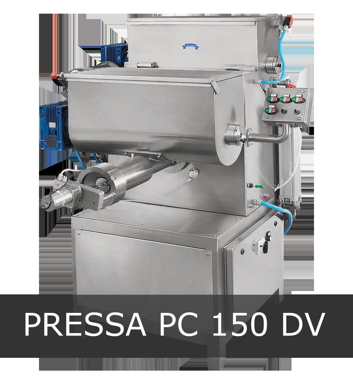 Pressa per pasta fresca industriale modello PC 150 DV