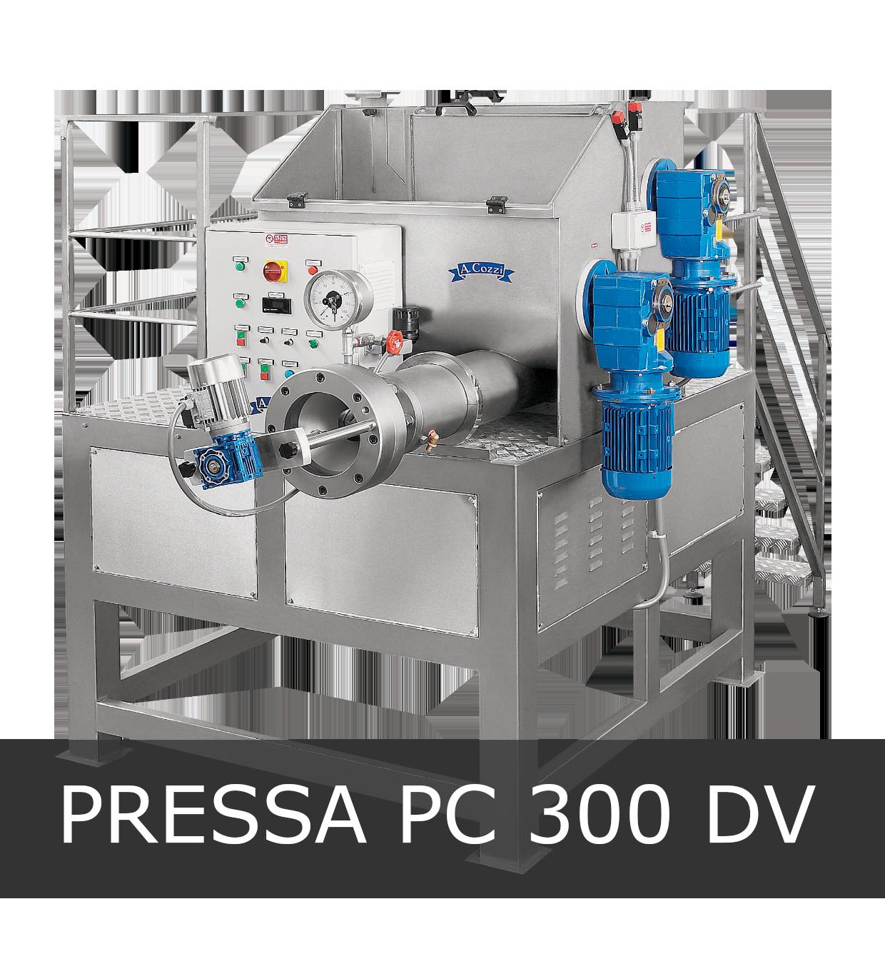 Pressa per pasta fresca industriale modello PC 300 DV