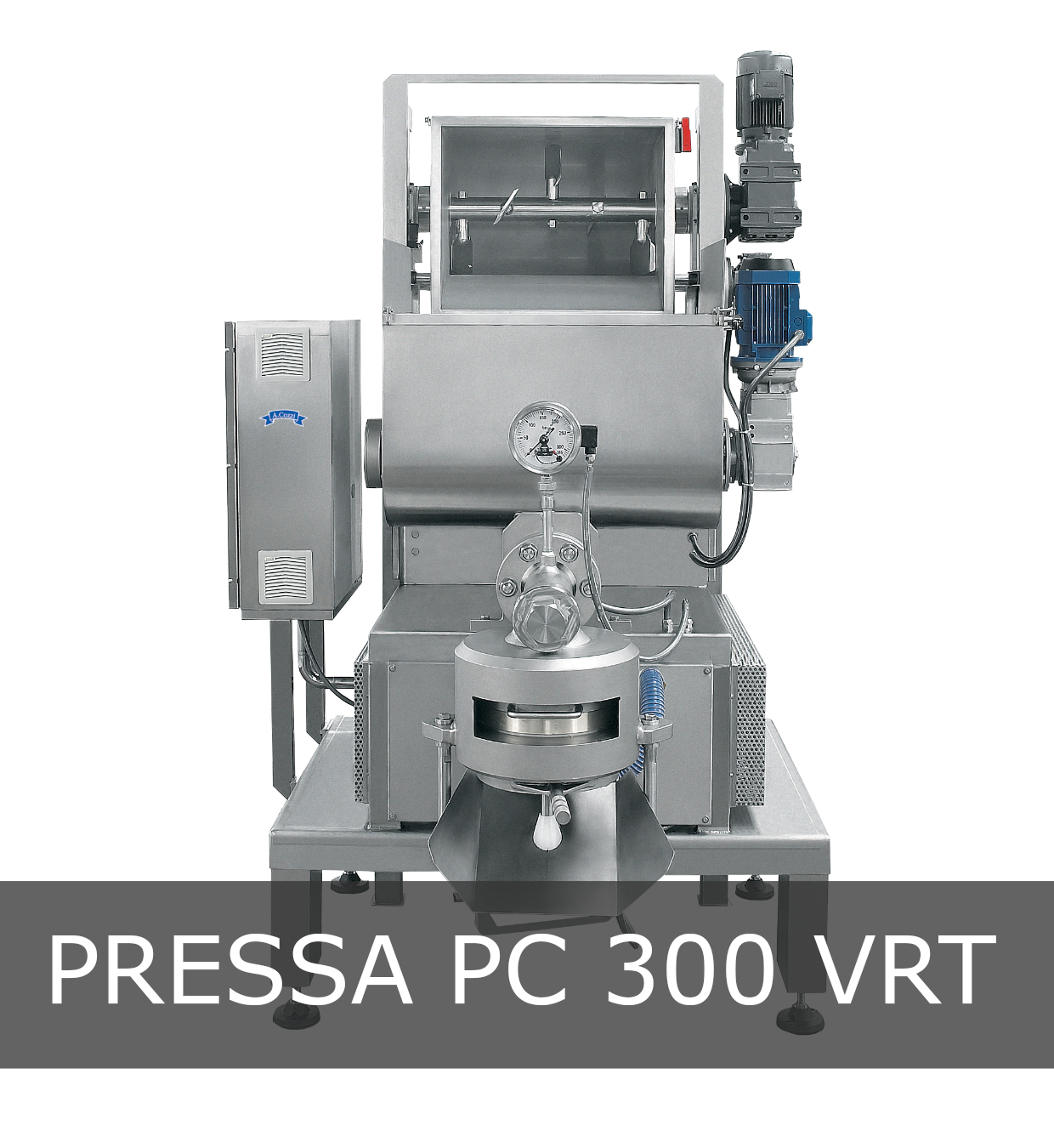 Pressa per pasta fresca industriale modello PC 300 VRT
