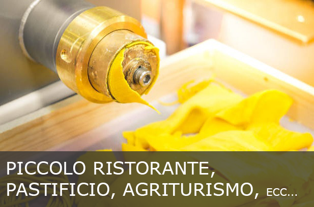 Presse per la pasta fresca adatte a piccoli ristoranti, pastifici, agriturismi., ecc...