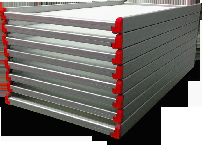 Telai in alluminio per essiccare pasta corta e ripiena