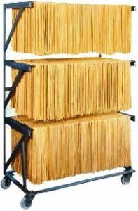 Carrello per l'essiccazione di pasta lunghe