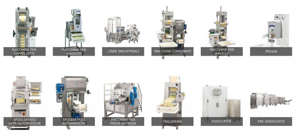 L'intera gamma di Macchine per Pasta