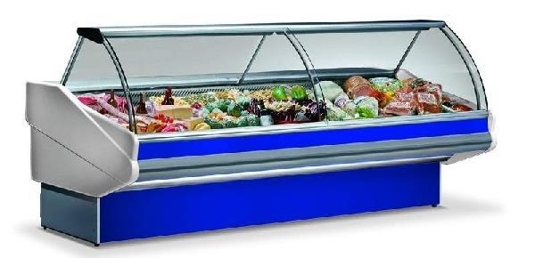 Banco gastronomia refrigerato vetri curvi 2019