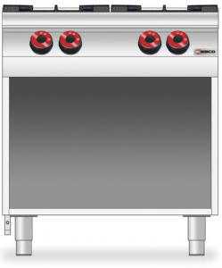 Cucina a GAS 4 fuochi